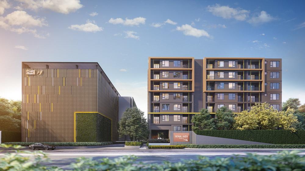 ภาพจำลองตัวอย่างอาคารจากทางแบรนด์คอนโดใหม่ SENA-AZU Rama 9