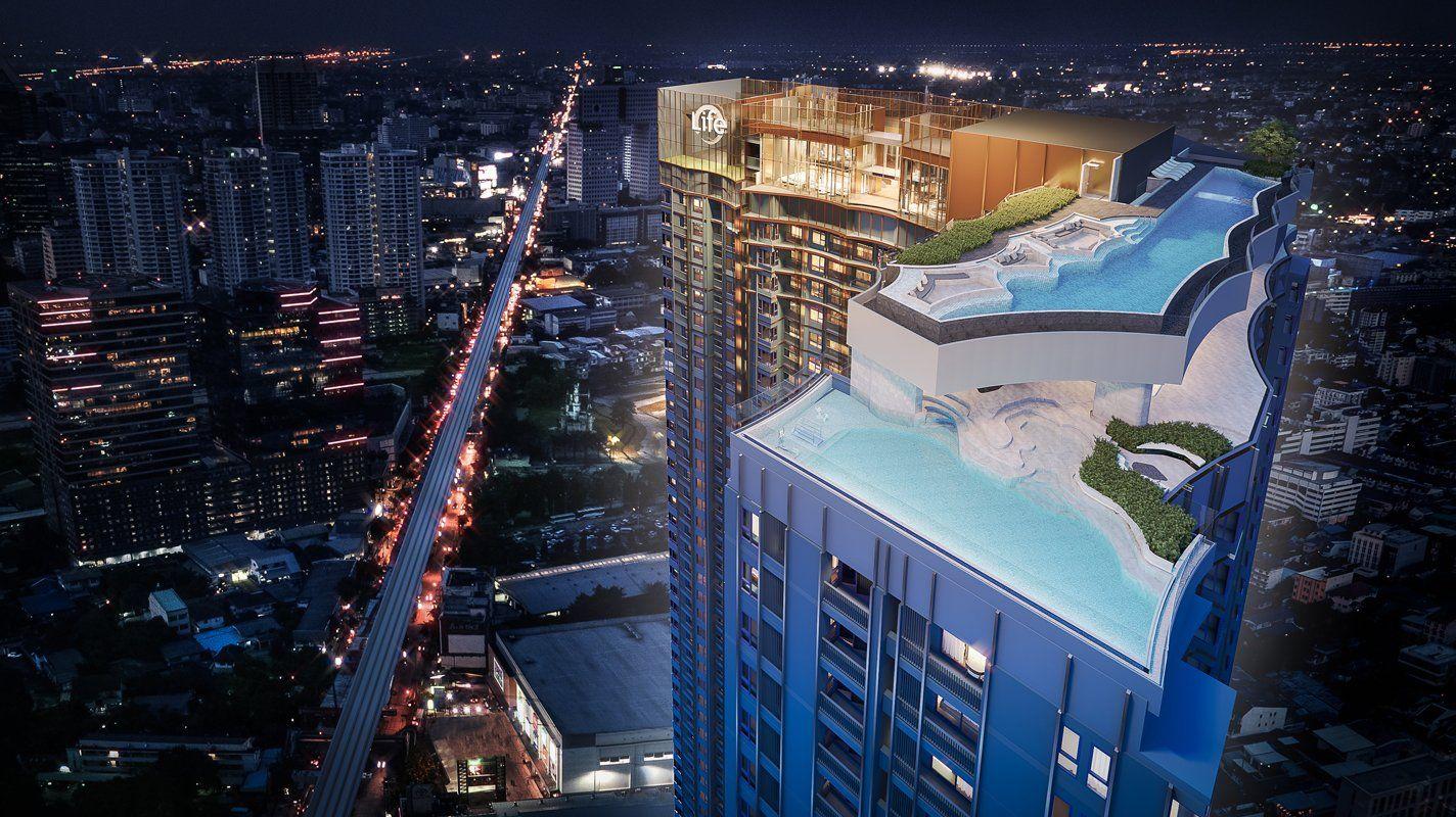ภาพจำลองตัวอย่างพื้นที่ส่วนกลางบน Rooftop ดาดฟ้าของแบรนด์คอนโดใหม่  Life Ladprao Valley