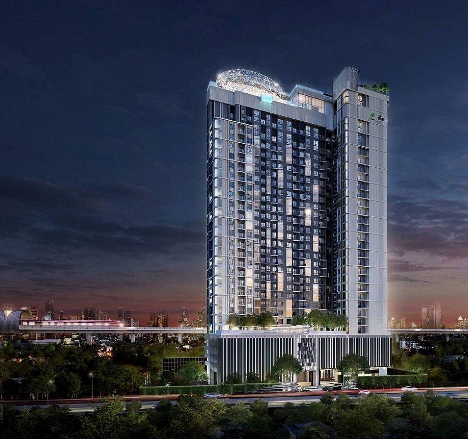 ภาพจำลองตัวอย่างอาคารแบรนด์คอนโดใหม่ The TREE พัฒนาการ – เอกมัย