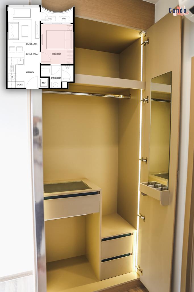 ตู้เสื้อผ้า Built-in จากโครงการคาวะ เฮาส์